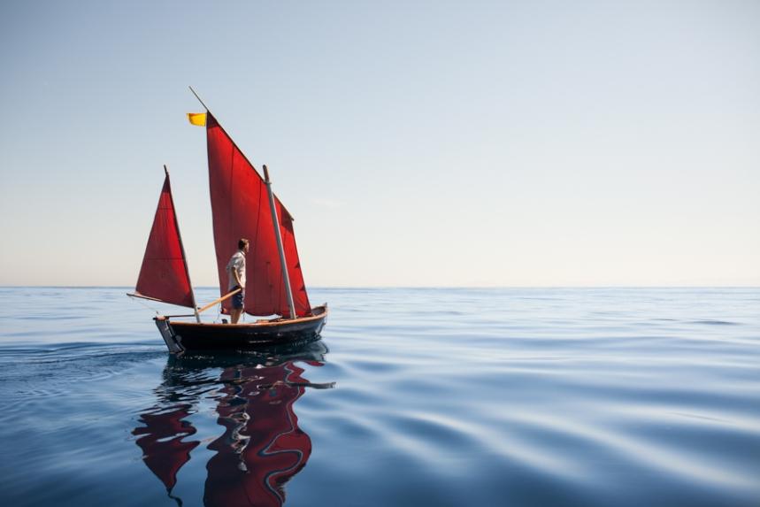 Christian Beamish aboard the Cormorant © Erin Feinblatt